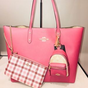 🌟NEW🌟Coach Town Tote w/Sig Canvas Int 3Pce Set🌟